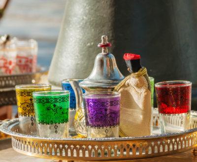 Arabic tea glasses with ornament